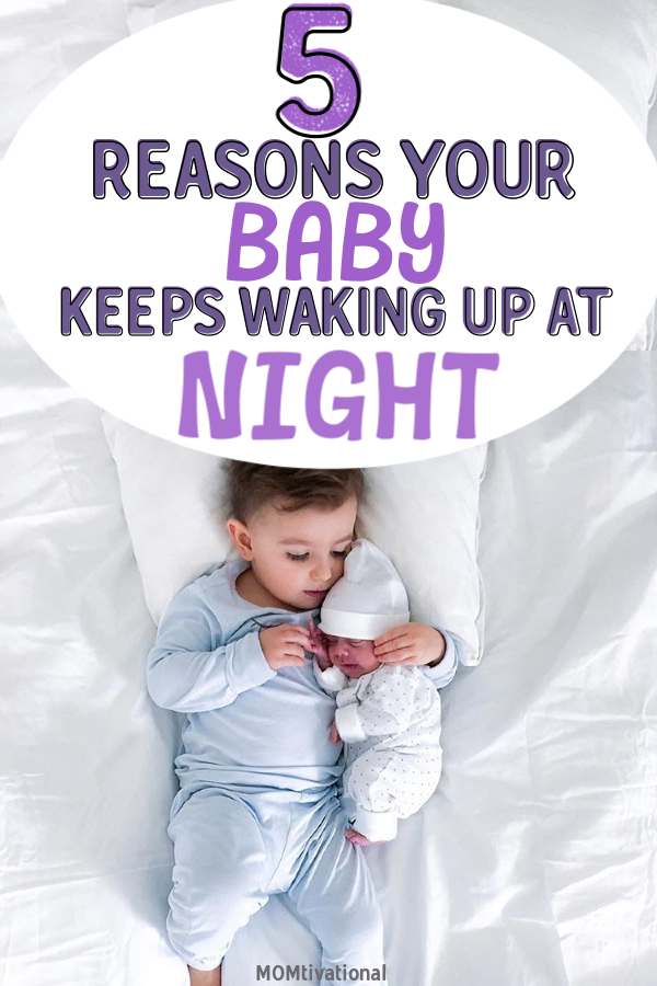 Why isn't my baby sleeping?! How to stop baby waking up at night! Find out the reasons your baby can't stay asleep through the night! How to stop baby waking at night out of habit Baby cries at night when I leave the room. Baby keeps waking up after 30 minutes, find out WHY! Medical reasons baby won't sleep. #baby #newmom #momtips