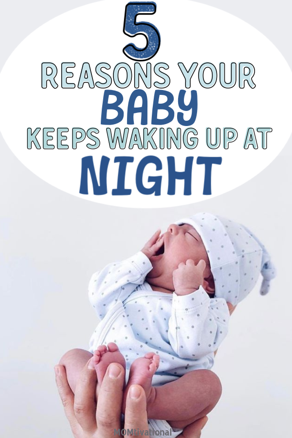 How to stop baby waking up at night! Find out the reasons your baby can't stay asleep through the night! How to stop baby waking at night out of habit Baby cries at night when I leave the room. Baby keeps waking up after 30 minutes, find out WHY! Medical reasons baby won't sleep. #baby #newmom #momtips