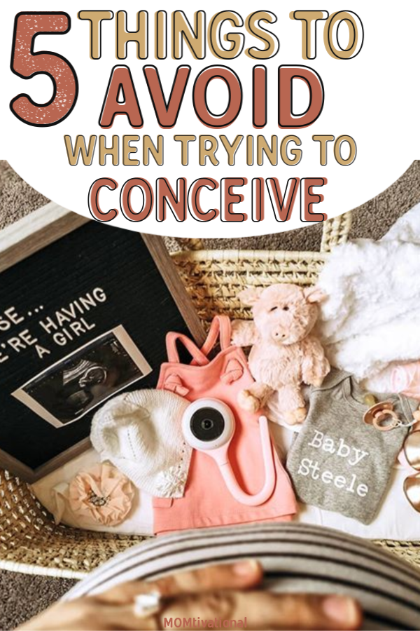 5 Things To Avoid When trying To Conceive! Find out what you shouldn't be doing while trying to get pregnant. Does caffeine affect getting pregnant?? Can alcohol stop you from getting pregnant?! Are there certain things to eat when trying to conceive? CAN I GO SKYDIVING WHILE TRYING TO CONCEIVE. Find out this and more! Foods to eat when trying to get pregnant fast. #expecting #pregnant #tryingtoconceive