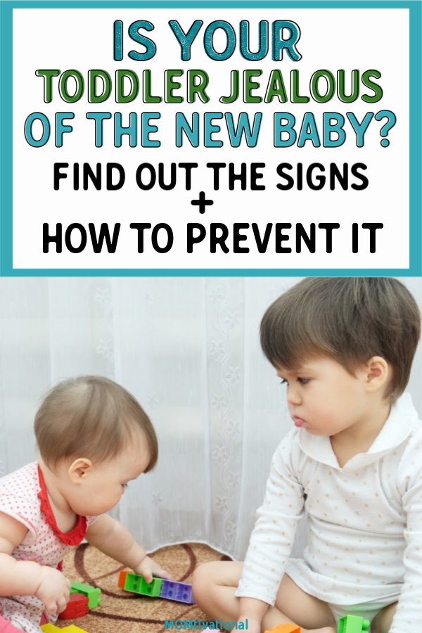 how do I introduce my new baby to a sibling? What to do when your child is jealous of a newborn. Find out the signs toddler is jealous of new baby and help deal with new baby and toddler tantrums! Here is how to handle and dissolve sibling jealousy. #parentingtips #guide #siblings #siblingjealousy