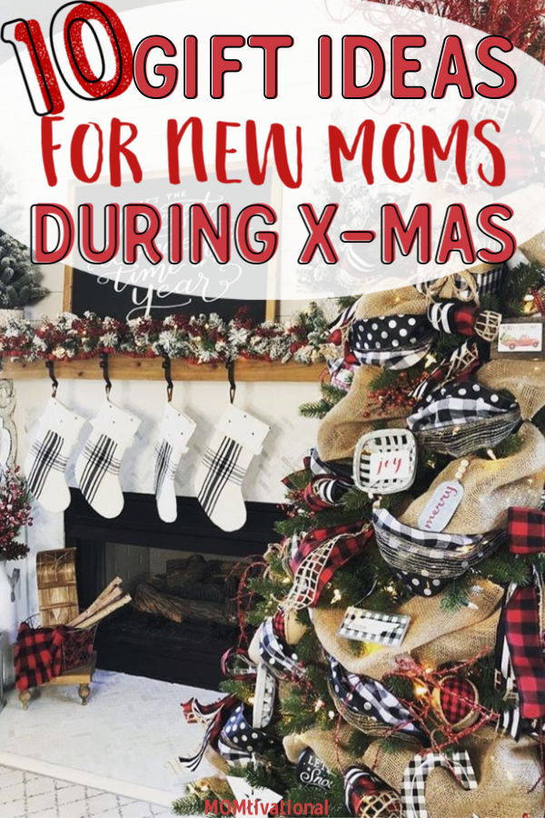 10 Gift Ideas for New Moms during Christmas! Easy and Thoughtful Holiday Gift Guide that's perfect for woman of all ages. #christmasgifts #giftguide #giftsformom