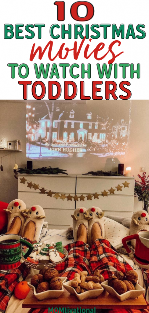 The absolute BEST Christmas movies for toddlers. Have a family movie night this Holiday season with this Christmas movie lists idea #christmas #christmasmovies
