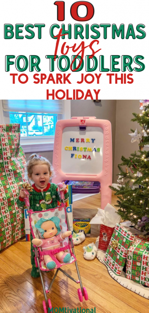 Are you struggling to find the perfect Christmas gift for your baby? Here are 10 of the best gifts for toddlers. Your child's eyes will light up this holiday season! #christmasgifts #giftideas #toddlers #giftsfortoddlers
