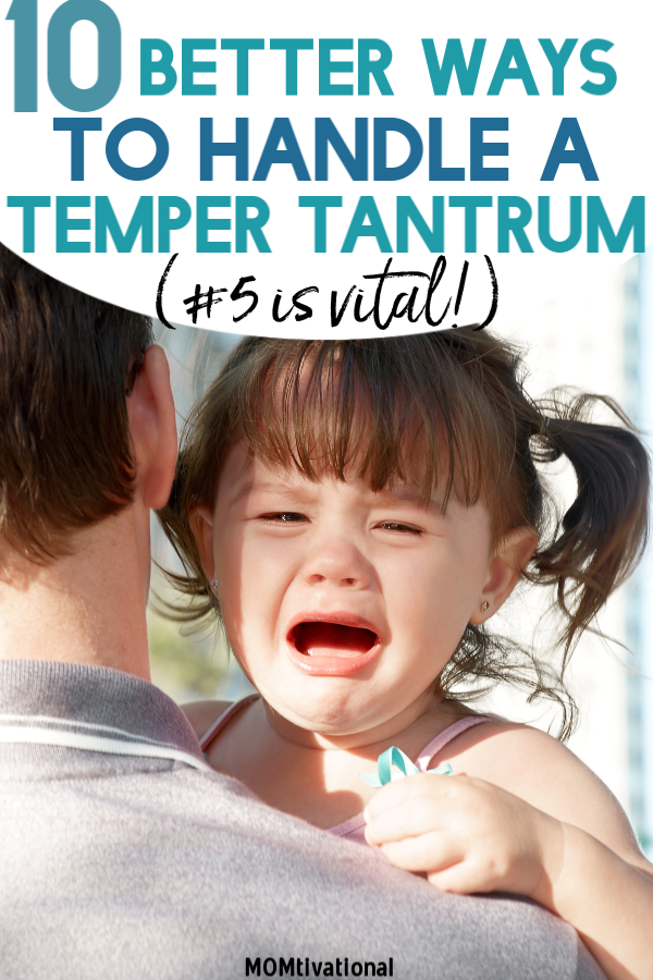 Are you handling your toddler's temper tantrums the RIGHT way?! These positive parenting tips will help you be a calmer parent and help your baby avoid a meltdown in the future. Simple steps, you can end your toddler's tantrum fast! It's absolutely normal for toddler meltdowns and toddler screaming to occur, but how we react (no yelling!) iOS what sets the tone for future tantrums #parenting #positiveparenting #toddler #parentingtips
