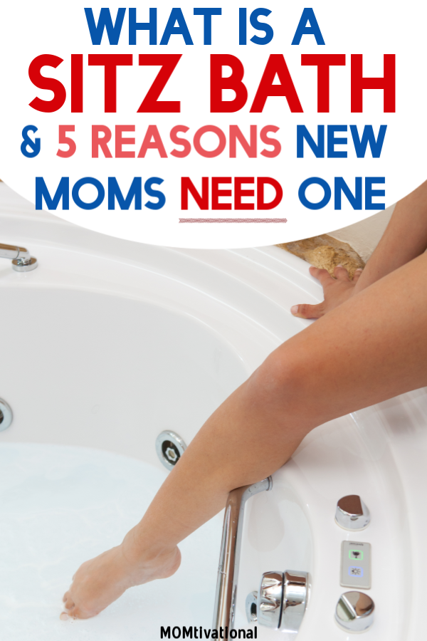 What is a postpartum sitz bath and why do you need one?! One of the best new mom tips I ever got was about the amazing benefits of epsom salts post labor. Honestly, this will help heal your stitches, relieve itching, and help with your pain SO MUCH. #postpartum #sitzbath #newmom