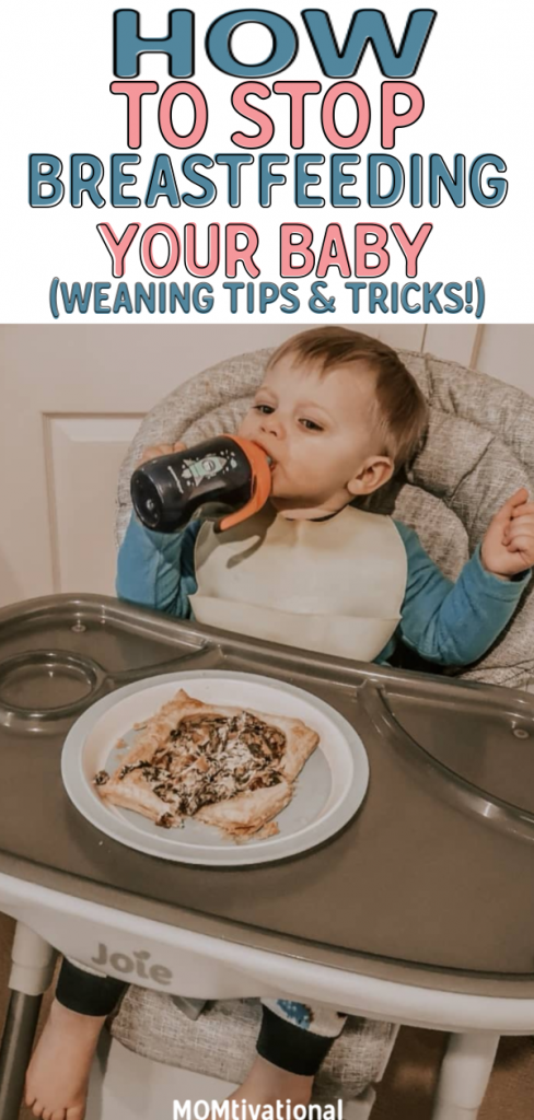 Helpful advice on how to stop breastfeeding a baby or toddler without pain! Tips on how to start weaning baby from the breast and introducing formula or solid foods. Read my tips for how to introduce solid foods to baby, how to find out when baby is ready for solids#babyfeeding#parentingtips