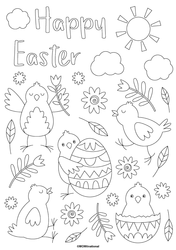 FUN and FREE Easter coloring pages for kids you will love! Get these printable coloring pages instantly for Easter weekend for a bunch of creative activities and a great time #coloringpages #kidsactivities