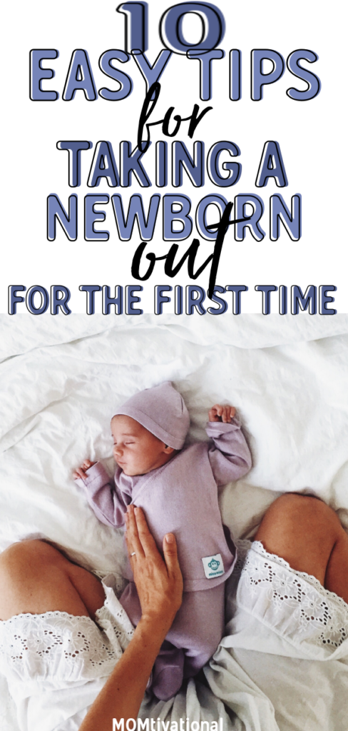 Figuring out when to take your baby out for the first time can be intimidating. When is it safe to take your baby out?! What what are some tips for taking a newborn baby outside. Ever wondered how some new parents manage taking their newborns out right to do errands? Taking your newborn baby out doesn't need to be difficult or even stressful!#firsttimemoms#newmomtips#newparents#newparentadvice#newbornbaby