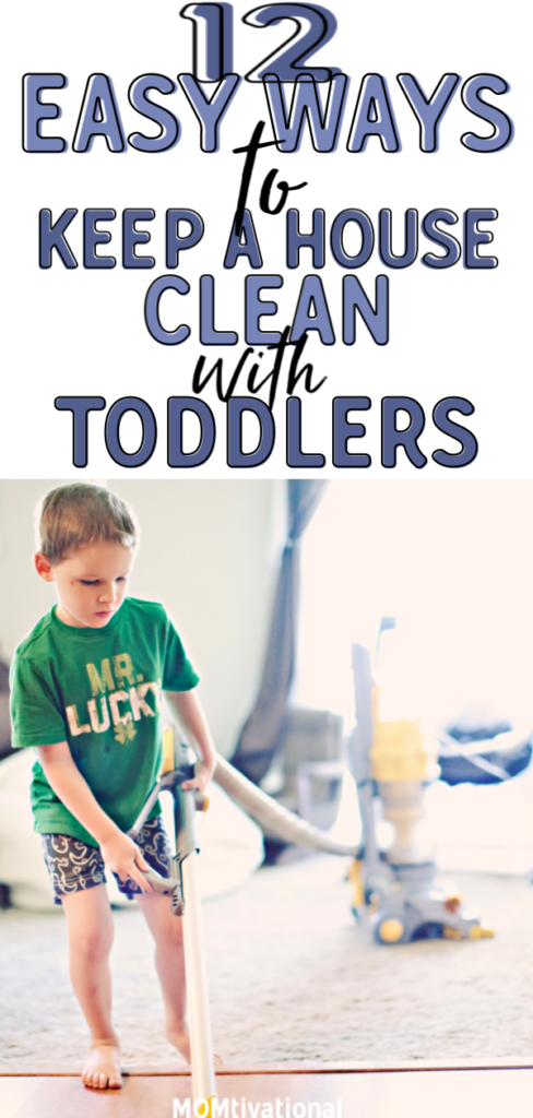 Wondering how to organize house with toddlers?! It isn't impossible to maintain a clean home with small children if you know how to do it properly! Having a daily cleaning routine with kids is essential for keeping a house clean. How do you clean the house with a baby and maintain some sort of #cleaninghomewithbaby #cleaningschedule