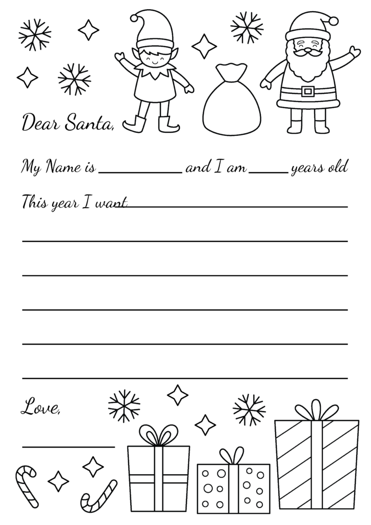 The best fun and free Christmas Wish List Printable for Santa that you and your family will love this Holiday season! This free coloring page is perfect for children to decorate and color in. Print out this Christmas Wish List For Santa Clause #ChristmasWishlist #FreePrintable #Freebies #Coloring Pages