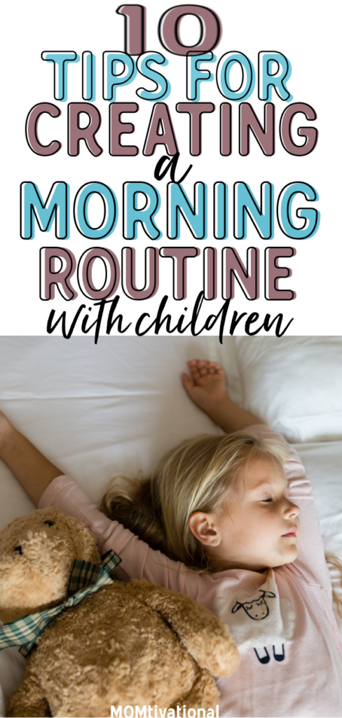 Mornings can be HECTIC! Especially with small children. Creating your perfect morning routine with toddlers can be hard but as long as you have a plan, you can start your day on the right path. Help your kids wake up early and get to school on time with these amazing ideas #morningroutinekids #morningroutine #morningroutineformoms