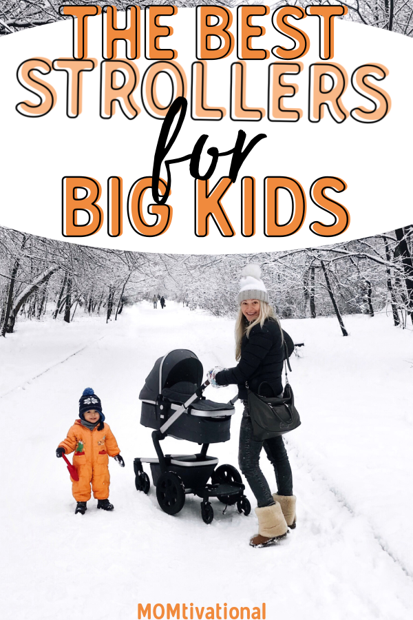 What are the best strollers for toddler over 40 lbs?! Finding a stroller your baby can grow with can save you a lot of money in the long run. These stroller are perfect for big kids #strollers #beststrollers #strollersforbigkids