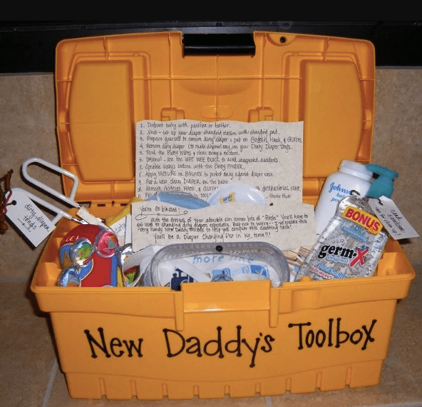 New Daddy's Toolbox pregnancy announcement to husband idea