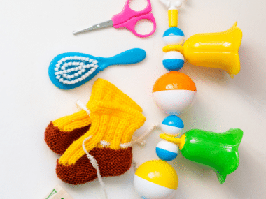 Items for a fun and easy baby shower memory game