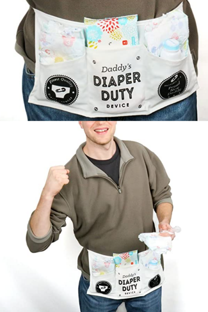 Daddy Diaper Duty Belt - Perfect and hilarious baby shower gift for the dad to be