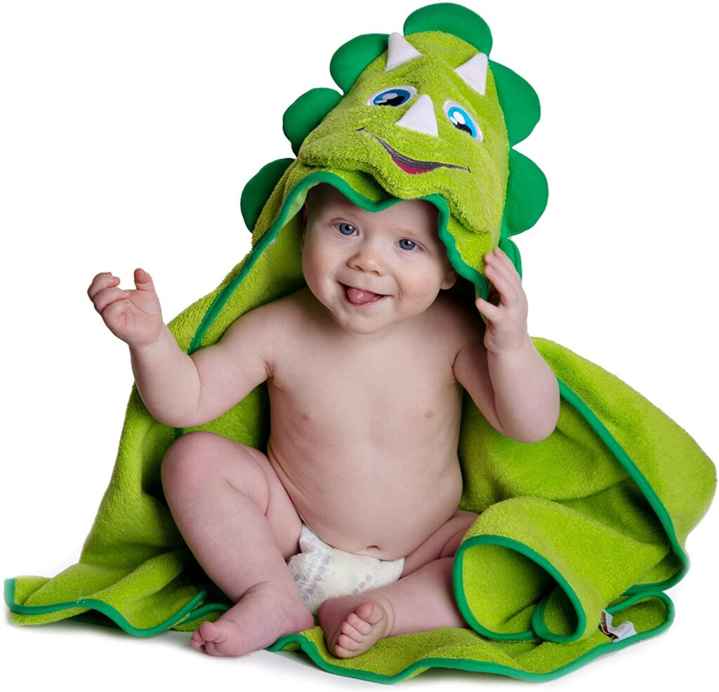 Hooded baby Dinosaur Blanket - The perfect hilarious baby shower gift idea!