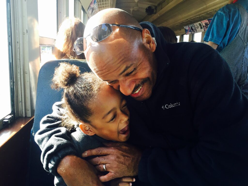 Men who show affection and don't hold back their feelings tend to make great fathers