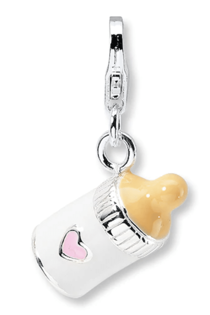 Baby Bottle Charm Enamel Accents Sterling Silver | Kay