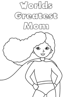 Worlds Greatest Mom Coloring Page
