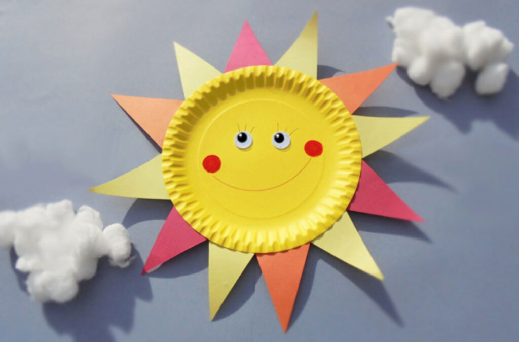 How to make a paper plate sun - FUN summer crafts ideas for toddlers